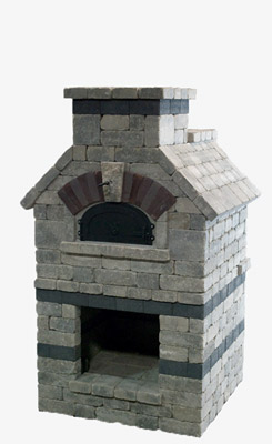 Before <br> This beautiful pizza oven from Harmony Outdoor Living really needs something to complete the top of the chimney chase.
