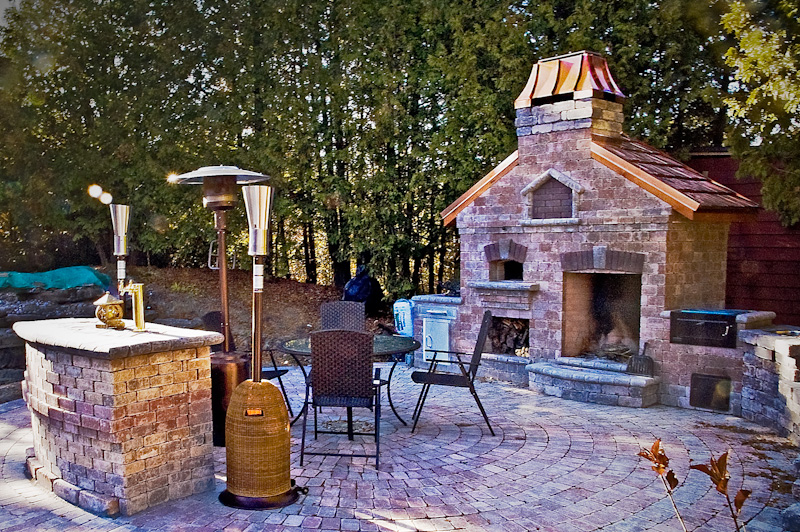 #5 Empress In White Painted Steel Atop An Outdoor Fireplace From Harmony  Outdoor Living  Outdoor Fireplace And Pizza Oven